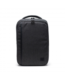 Travel Daypack Black Crosshatch