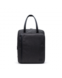 Travel Tote Black Crosshatch